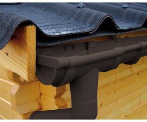 Karibu Kunststoff Dachrinnenset für Thor 1 mit 2x Dachausbau braun