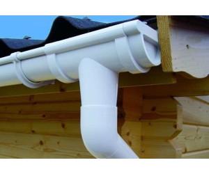 Karibu Kunststoff Dachrinnenset für Thor 1 mit 2x Dachausbau weiß