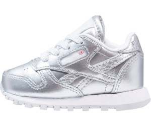 56387d4f Buy Reebok Classic Leather GS Metallic silver/white from £25.00 ...