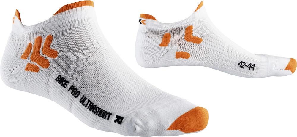 X-Socks Bike Pro Ultrashort white/orange