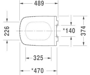lang wei/ß Duravit 0060510000 WC-Sitz DuraStyle ohne SoftClose Scharniere Edelstahl