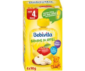 Bebivita zum Quetschen Banane in Apfel (4x90g)