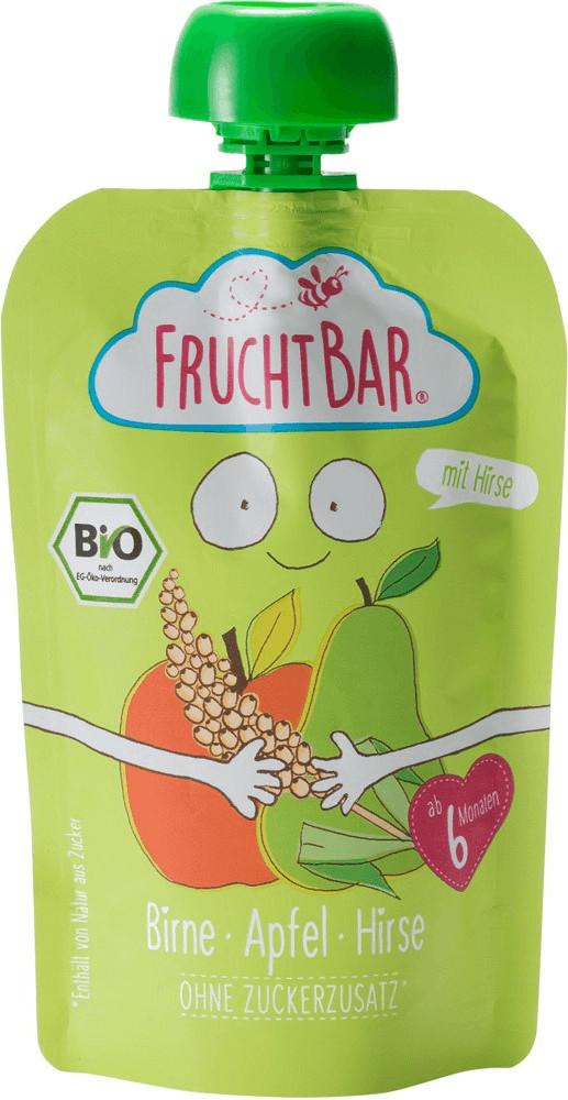 Frucht Bar Bio Fruchtpüree Birne, Apfel & Hirse (100 g)