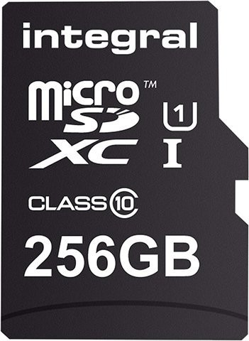 Image of Integral Smartphone and Tablet microSDXC Class 10 UHS-I U1 - 256GB (INMSDX256G10-90SPTAB)