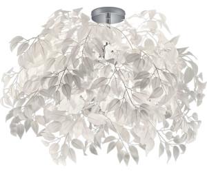 Luxus Decken Leuchte Wohnraum Lampe Blätter Blüten Flur Strahler weiß Big Light