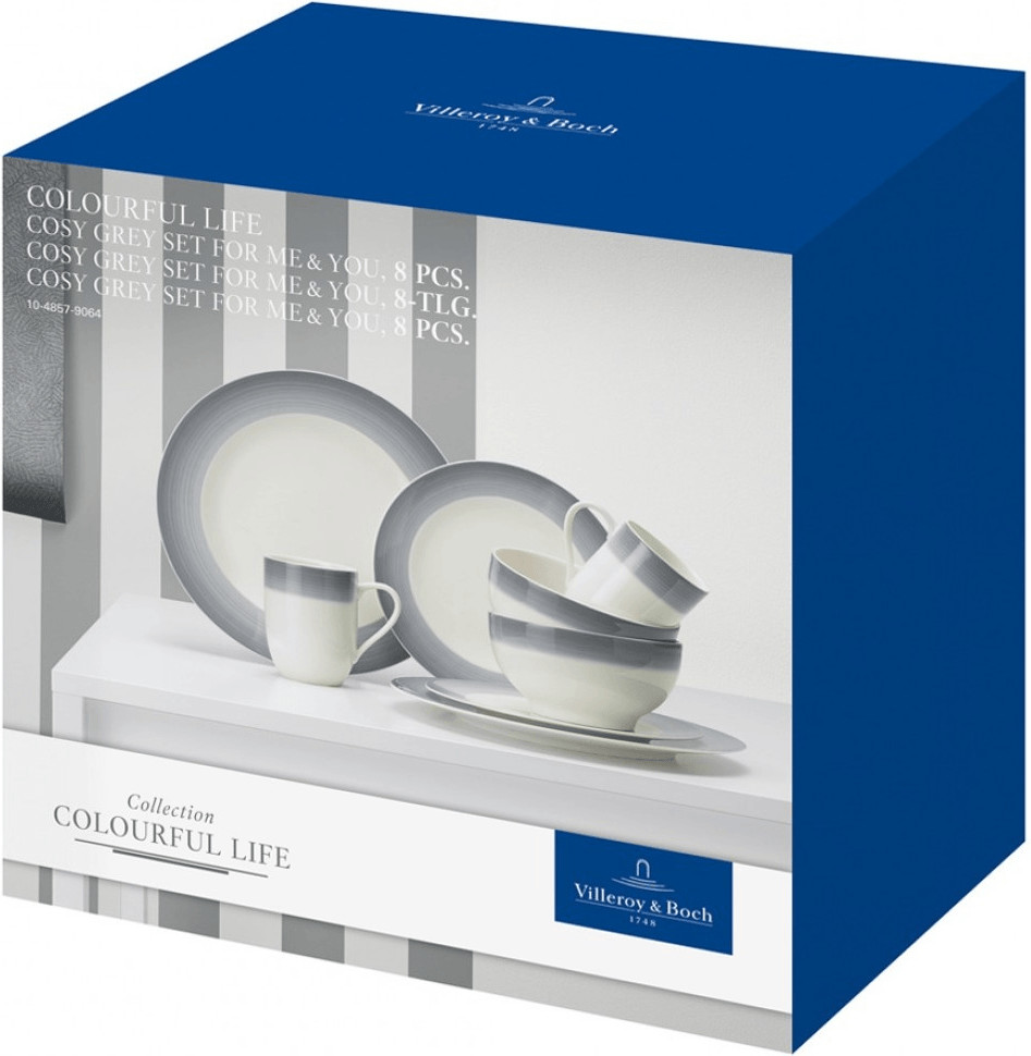 Villeroy & Boch Colourful Life Cosy Grey Set For Me & You