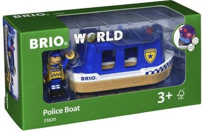 Brio World - Polizeiboot mit Licht und Sound (33820)