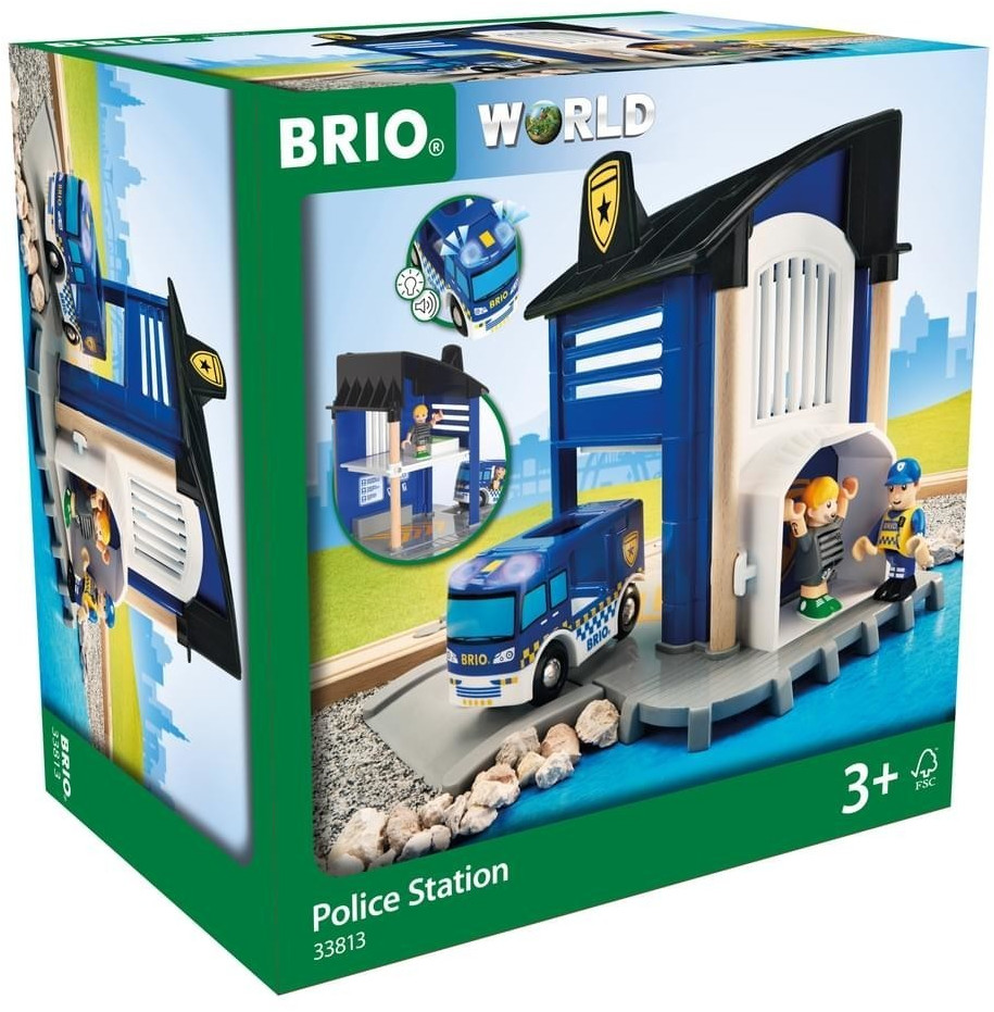 Brio World - Polizeistation mit Einsatzfahrzeug (33813)