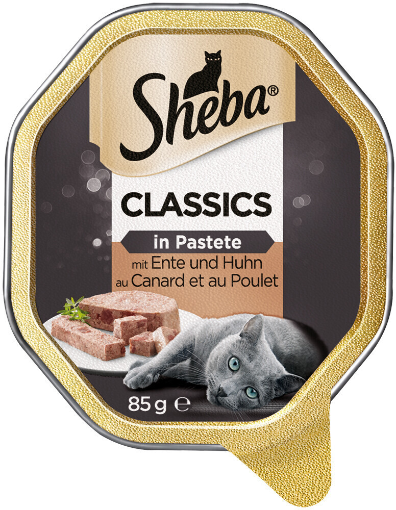 Sheba Sheba Classics in Pastete Ente & Huhn (85 g)