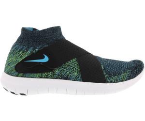 Nike Free RN Motion Flyknit 2017 black/volt/white/chlorine blue ab ...