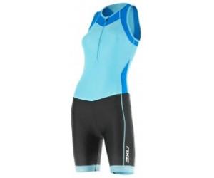 2XU X-Vent Front Zip Trisuit Women blue atoll/black