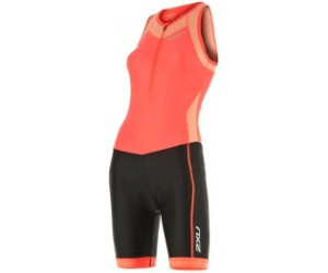 2XU X-Vent Front Zip Trisuit Women fiery coral/black