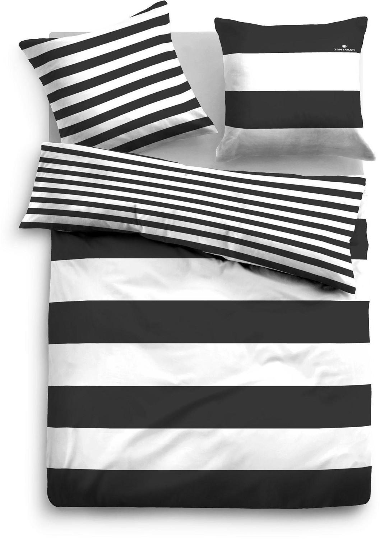 Tom Tailor Siena 80x80+135x200cm schwarz