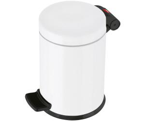 Hailo ProfiLine Solid S M/ülleimer 0704-060 aus Edelstahl, 4 Liter, Kunststoff-Inneneimer, Anti-Rutsch-Fu/ß, edelstahl