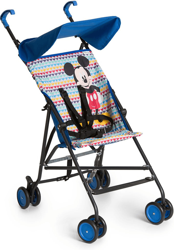 Hauck Disney Baby Sun Plus Buggy Summer Pushchair with Mickey Geo Print, Blue