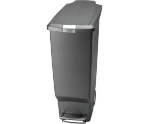 40 litres Roues et couvercle Shox Poubelle /à p/édale CW1361 Noir Simplehuman