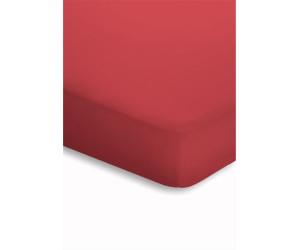 schlafgut spannbettuch f r boxspring 180x200 200x220cm kirschrot ab 34 95 preisvergleich bei. Black Bedroom Furniture Sets. Home Design Ideas