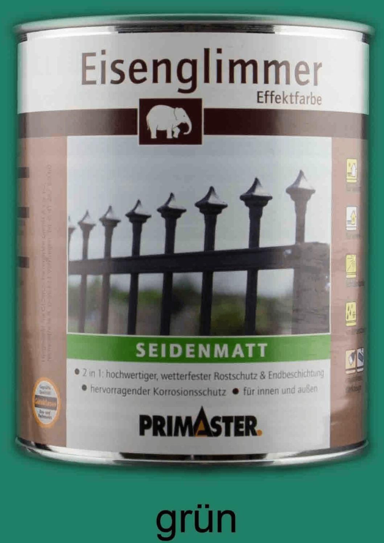 PRIMASTER Eisenglimmer-Lack seidenmatt grün 750 ml