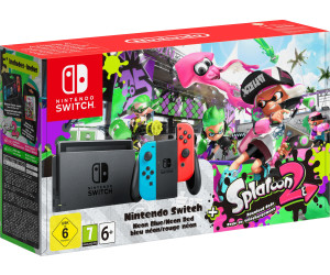 Nintendo Switch black + Joy-Con neon red/neon blue + Splatoon 2