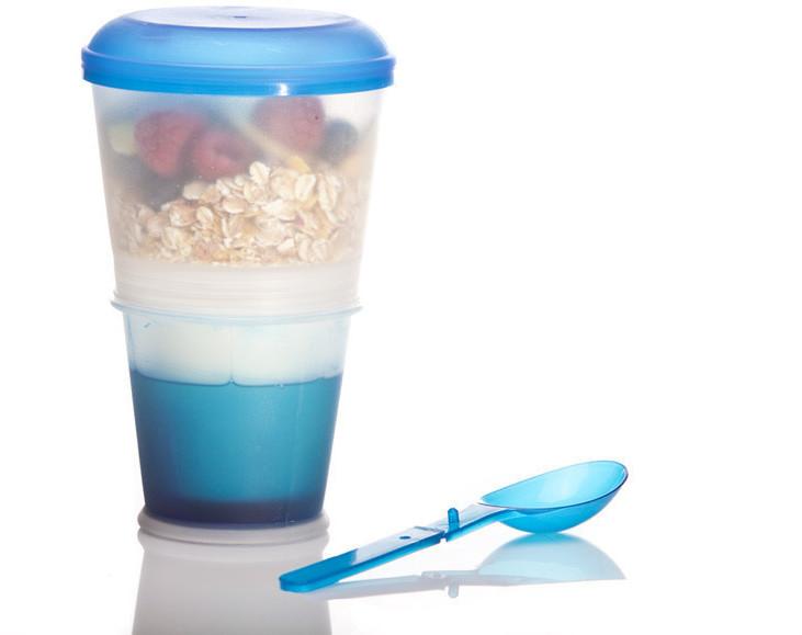 Goodsngadgets Müsli-to-go-Becher mit Milch-Kühl...