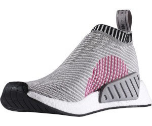 7011b6a71d1b5 Adidas NMD CS2 Primeknit dark grey heather solid grey footwear white shock  pink. Adidas NMD CS2 Primeknit