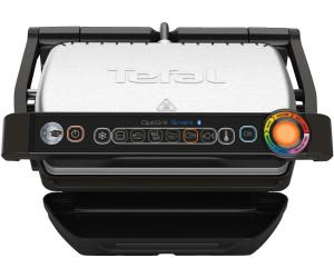 Smart GC730D Kontaktgrill mit App-Steuerung f/ür ideale Grillergebnisse, 2.000 Watt, automatische Anzeige des Garzustands, 6 voreingestellte Grillprogramme schwarz//edelstahl Tefal OptiGrill