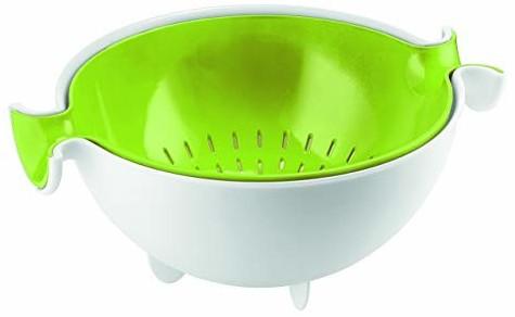 Guzzini Kitchen Abtropfsieb mit Behälter grün