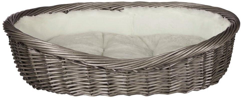 Trixie Hundekorb mit Innenfutter und Kissen, 70 cm, grau