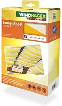 Windhager Seilspann-Markise 420 x 140 cm gelb-weiß