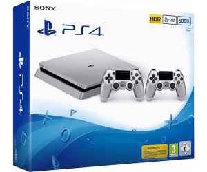 Sony PlayStation 4 (PS4) Slim 500GB silver + 2 Controller