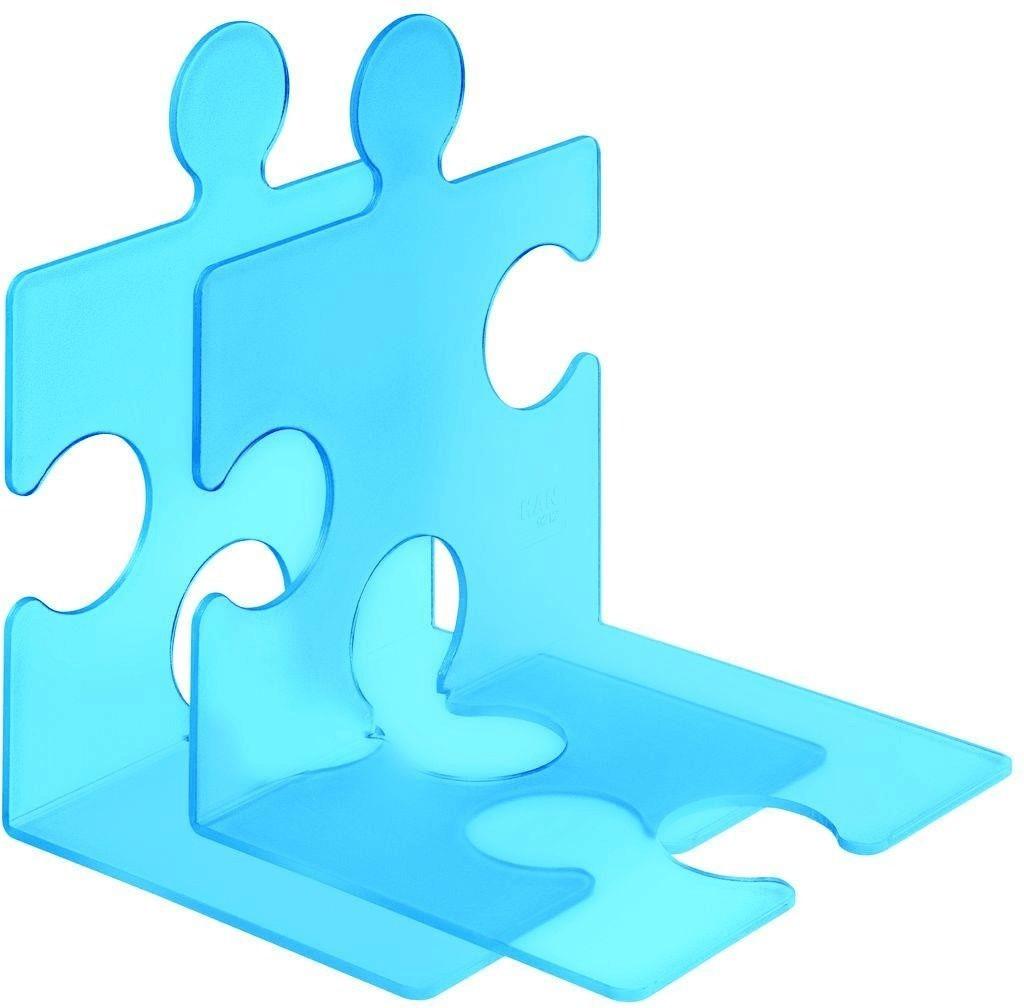 HAN Buchstütze Puzzle 2er Set blau-transluzent