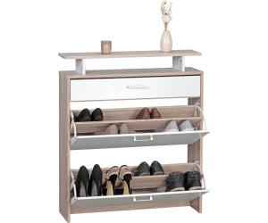 finebuy schuhschrank schmal mit ablage ab 89 95 preisvergleich bei. Black Bedroom Furniture Sets. Home Design Ideas