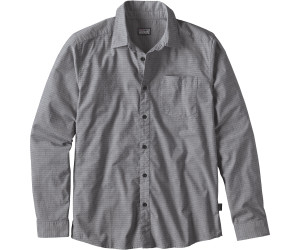 Patagonia Men's Long-Sleeved Fezzman Shirt Regular Fit diamond dobby: navy blue
