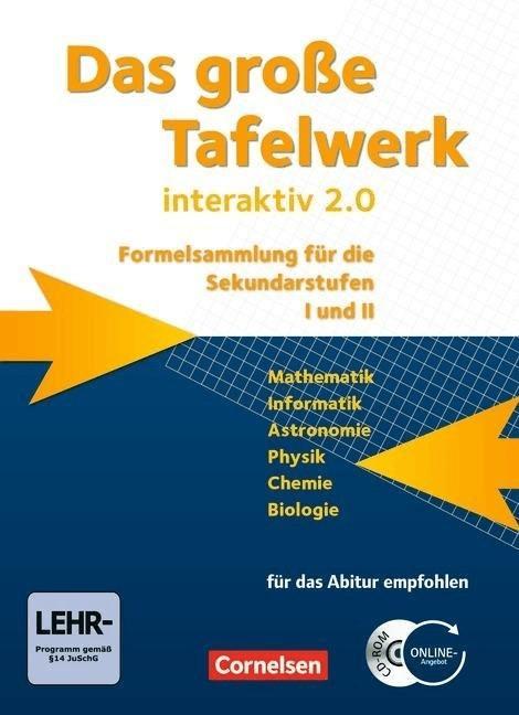 Das große Tafelwerk interaktiv 2.0 Mathematik, ...
