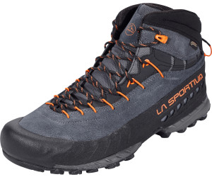 La Sportiva TX 4 Mid Gtx® Rot-Grau, Herren Gore-Tex® Hiking- & Approach-Schuh, Größe EU 41.5 - Farbe Carbon-Flame Herren Gore-Tex® Hiking- & Approach-Schuh, Carbon - Flame, Größe 41.5 - Rot-Grau