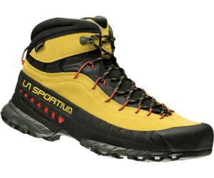 La Sportiva TX 4 Mid Gtx® Rot-Grau, Herren Gore-Tex® Hiking- & Approach-Schuh, Größe EU 44.5 - Farbe Carbon-Flame Herren Gore-Tex® Hiking- & Approach-Schuh, Carbon - Flame, Größe 44.5 - Rot-Grau