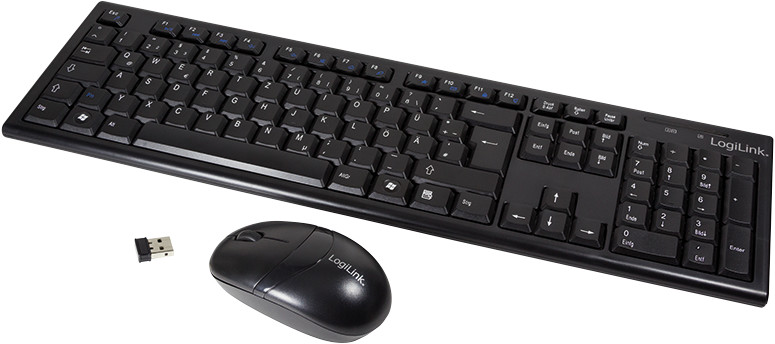 Image of LogiLink 2.4GHz Wireless Keyboard/Mouse Combo Set with Autolink