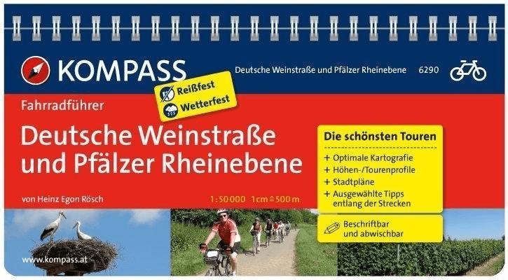 Kompass Fahrradführer Deutsche Weinstraße und P...