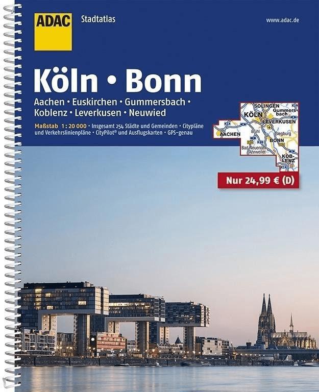 ADAC StadtAtlas Köln, Bonn, Aachen, Euskirchen,...