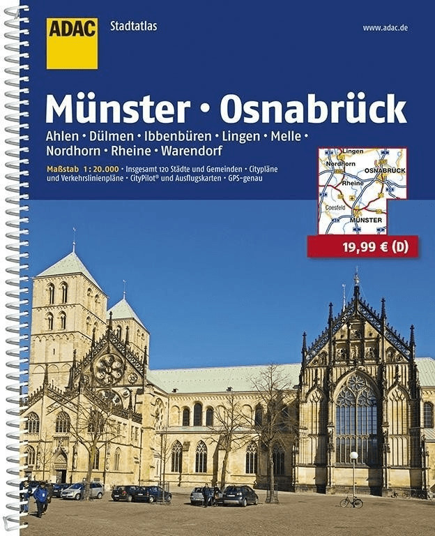 ADAC StadtAtlas Münster / Osnabrück mit Ahlen, ...