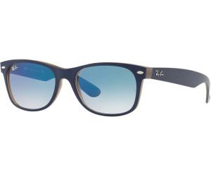 Ray-Ban New Wayfarer RB 2132 6308/3F matte blue on opal brown 55 o7J46fqRw
