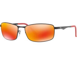 765318e2d6 Buy Ray-Ban RB3498 006 6S (black orange flash polarized) from ...