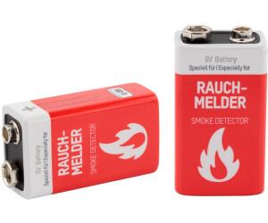 4 HEITECH 9V Alkaline Longlife Rauchmelder Batterien 9Volt E-Block 2x2er Blister
