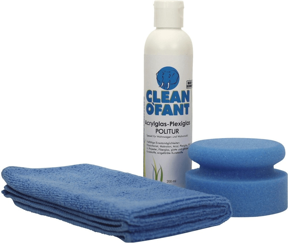 Cleanofant Acrylglas-Plexiglas-Politur Set