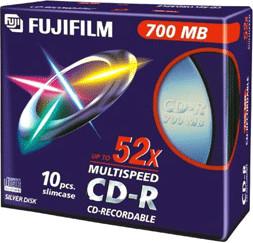 Fuji Magnetics CD-R 700MB 80min 52x 10er Slimcase