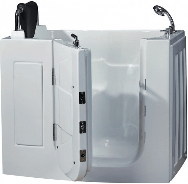 AcquaVapore Senioren-Sitzbadewanne A108WP 110 x 68 cm | Bad > Badewannen & Whirlpools > Sitzbadewannen | Weiß