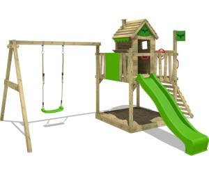 Klettergerüst Bodenanker : Kinder klettergerüst holz premium mit kletterwand kletternetz von