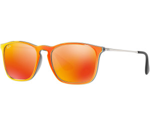 RAY BAN RAY-BAN Herren Sonnenbrille »CHRIS RB4187«, grau, 63206Q - grau/orange
