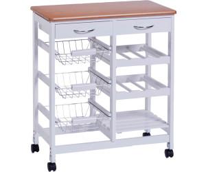 Zeller Küchenrollwagen weiß/Bamboo-Dekor (13774) ab 63,99 ...