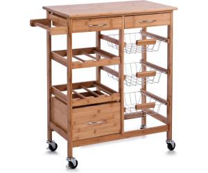 zeller k chenrollwagen mit bambootop 13775 ab 84 99. Black Bedroom Furniture Sets. Home Design Ideas